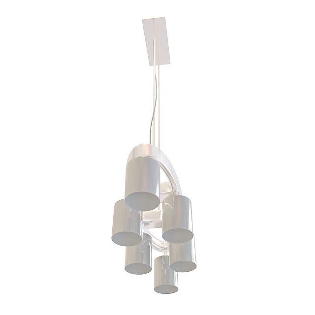 6 Light Linear Pendant Lighting 3d Model 3ds Max Files