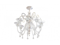 Glass & brass chandelier 3d model