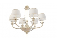 Neoclassical 6-arm chandelier 3d model