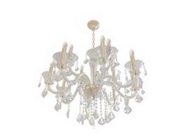 Antique crystal chandelier 3d model