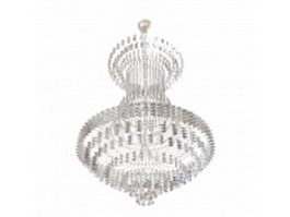 Montgolfiere crystal chandelier 3d model