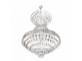 Montgolfiere crystal chandelier 3d model