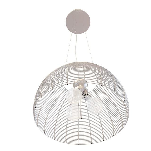 Chicken wire dome pendant light 3d model 3ds max files free ...