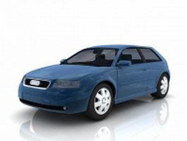 Audi A3 small family car 3d model