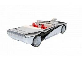 Convertible concept car 3d model