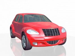 Chrysler PT Cruiser red 3d model