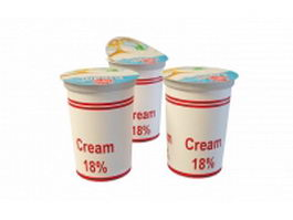 Fresh cream 3d model