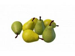 Green pears 3d model