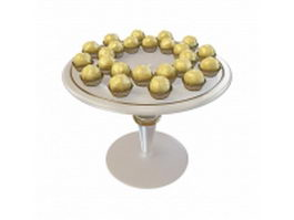 Sweet chocolate balls 3d model