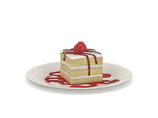 Cake on plate 3D Model  sc 1 st  CadNav & Cake on plate 3d model 3ds max files free download - modeling 31859 ...
