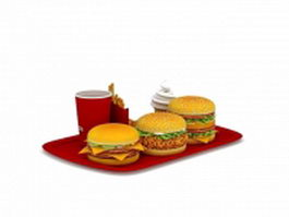 Mcdonalds family dinner pack 3d model