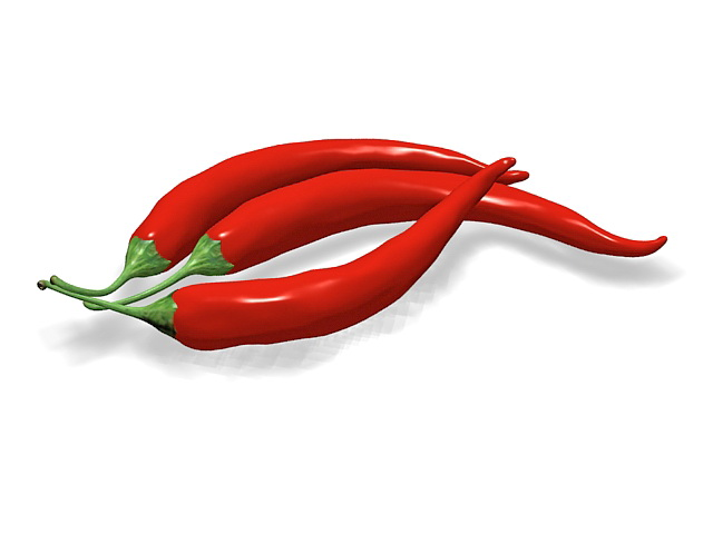 Chili Pepper 3d Model 3ds Max Files Free Download