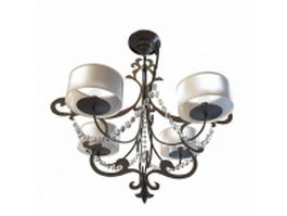 Cast iron chandelier 3d model
