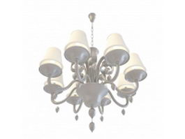Chain hanging chandelier 3d model