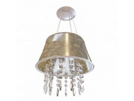 Pendant light crystal drop 3d model
