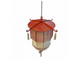 Chinese lantern pendant light 3d model