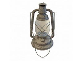 Old oil lights 3d model