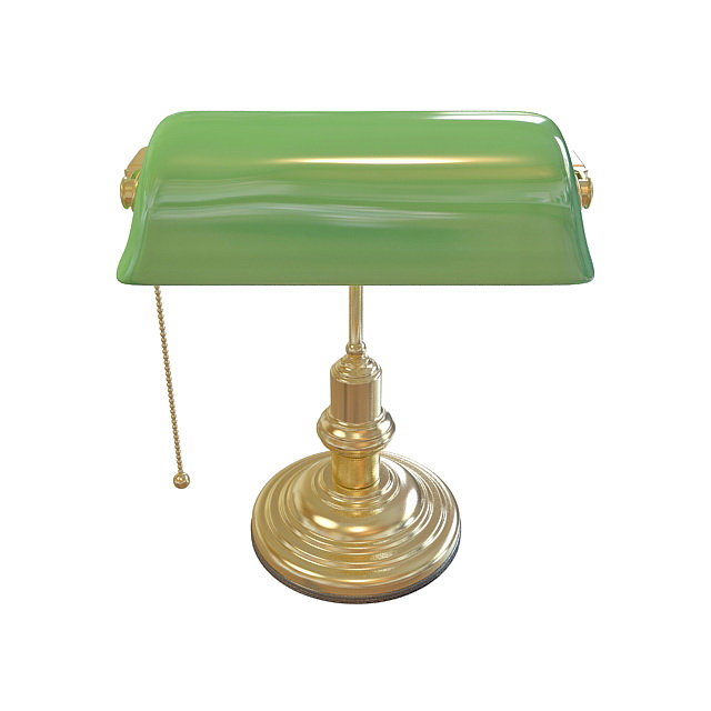 classic bankers lamp 3d model 3ds max files free download. Black Bedroom Furniture Sets. Home Design Ideas