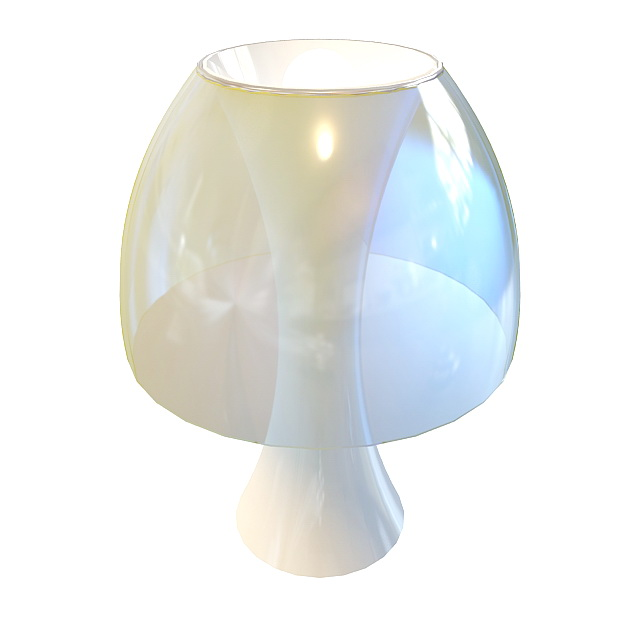 Glass Dome Table Lamp 3d Model 3ds Max Files Free Download