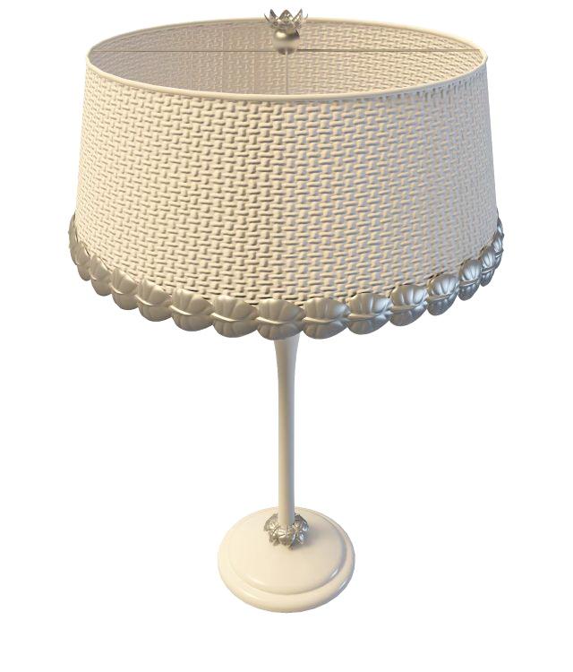 Rattan Drum Table Lamp 3d Model 3ds Max Files Free