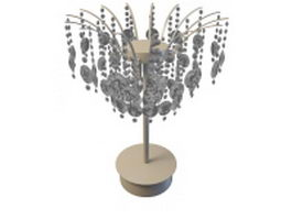Crystal chandelier table lamp 3d model