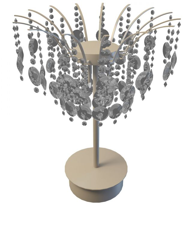 Crystal Chandelier Table Lamp 3d Model 3ds Max Files Free