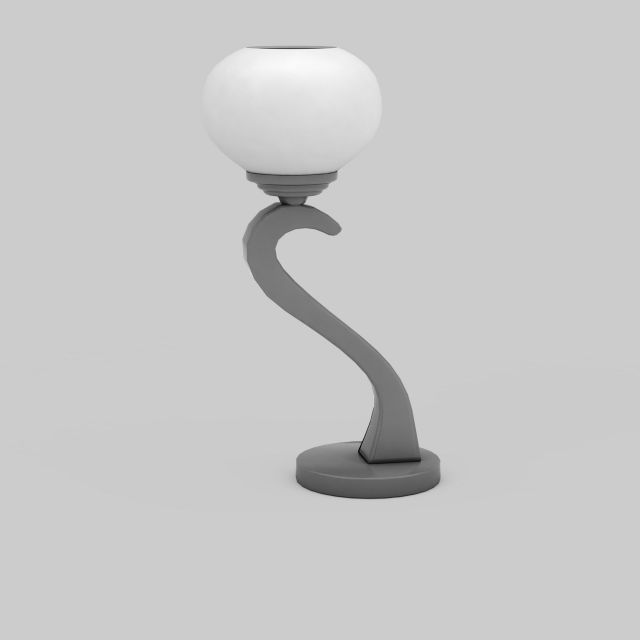 Curved Table Lamp 3d Model 3ds Max Files Free Download