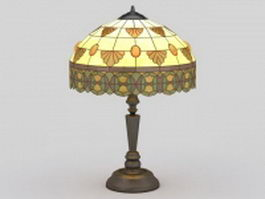 Tiffany table lamp 3d model