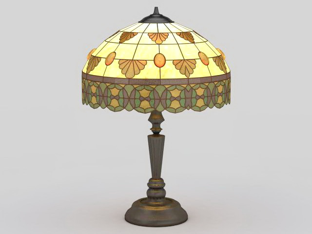 Tiffany Table Lamp 3d Model 3ds Max Files Free Download
