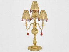 Antique brass table lamp 3d model