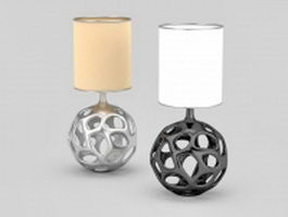 Hollowed out ball table lamps 3d model