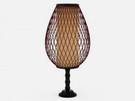 Wire glass table lamp 3d model