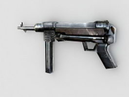 MP 40 submachine gun 3d model