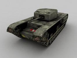 Churchill tank 3d model