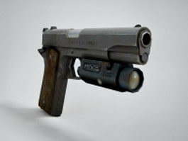 1911 Semi-Automatic Pistol 3d model