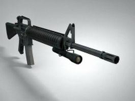 M16A2 rifle 3d model