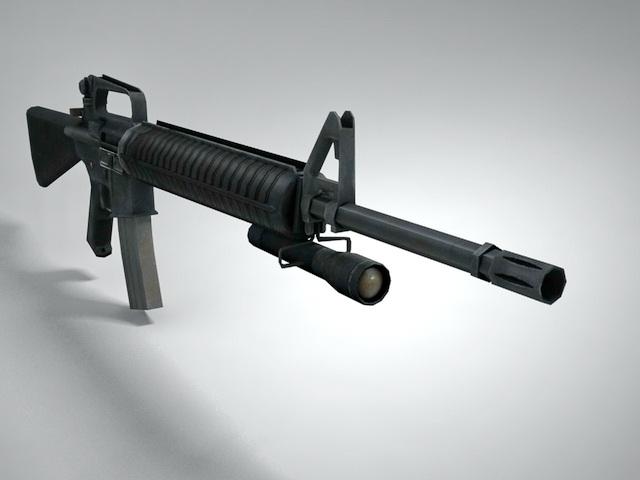 Питание стрелкового оружия осуществляется из магазина ёмкостью 30 боеприпасов от винтовки м16