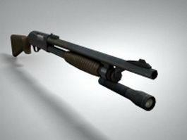 Police shotgun 3d model