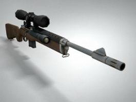 Mini-14 rifle 3d model