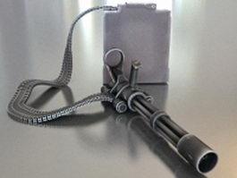 T-600 Mini gun 3d model