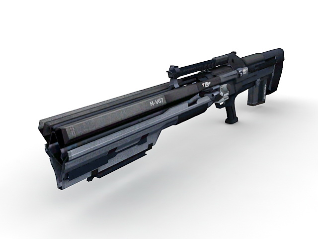 Gauss Rifle Concept 3d Model 3ds Max Files Free Download