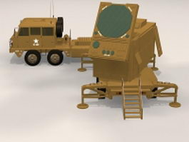 Patriot radar system 3d model