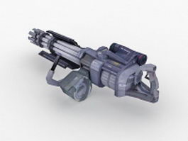 Sci-Fi Minigun 3d model