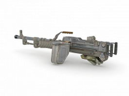 Stationary light machine gun 3d model