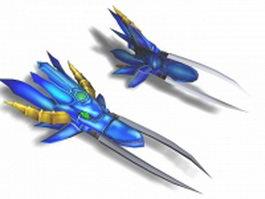 Fist weapon concept 3d model