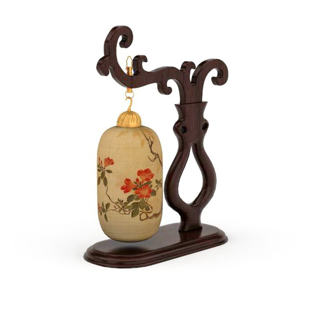 Antique Chinese Table Lamp 3d Model 3ds Max Files Free