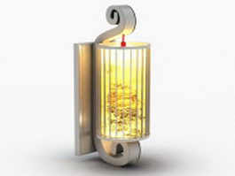 Antique oriental wall sconce 3d model