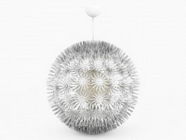 Sphere pendant light fixture 3d model