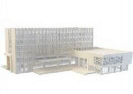 Headquarters office building 3d model