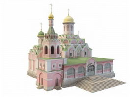 Kazan Cathedral in Moscow 3d model